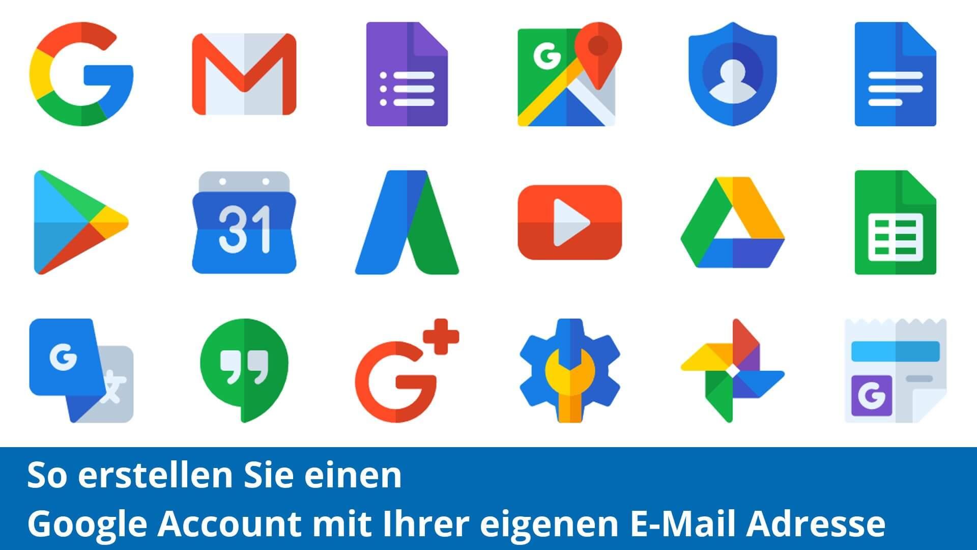 Grafik mit vielen Googleicons