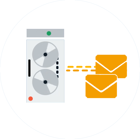 email-synchronisiation-kreis-weiss