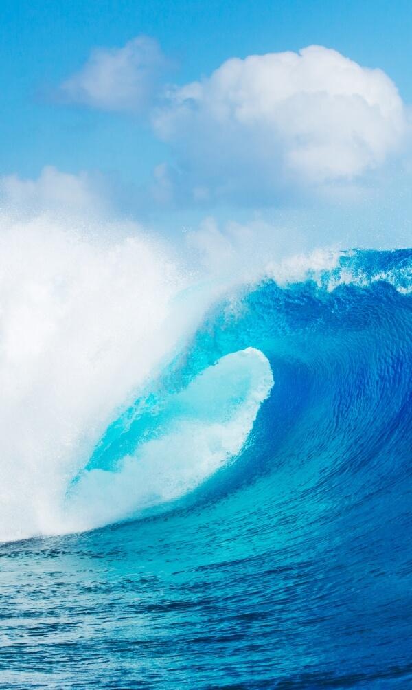 Blue Ocean Wave, Epic Surf